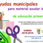El Ayuntamiento convoca ayudas para la compra de material escolar en primaria