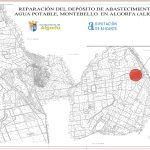 El Ayuntamiento de Algorfa recibe una subvención 24.000 euros de la Diputación de Alicante para la reparación del depósito de abastecimiento de agua potable de Montebello